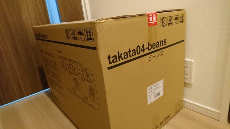 タカタ04ビーンズが届いたときの箱はサイズが大きくてびっくり