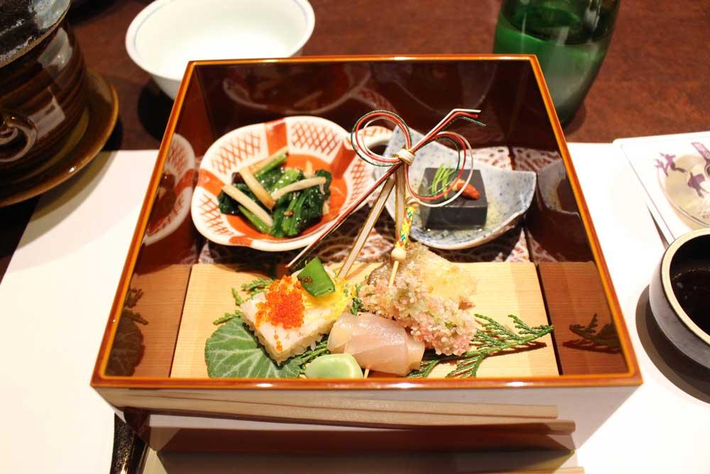 北大路銀座茶寮のお祝い会席の前菜