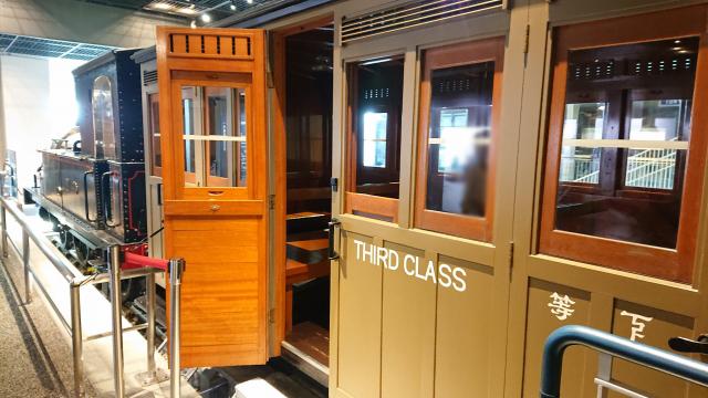 鉄道博物館で車両の中に入って体験