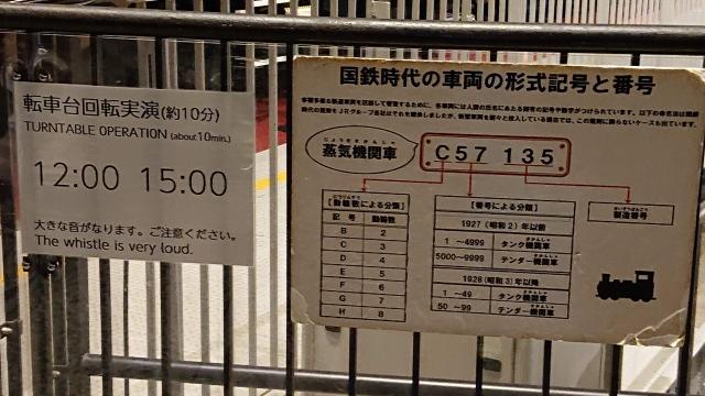 鉄道博物館の転車台回転実演スケジュール