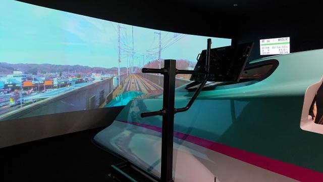 鉄道博物館のE5シミュレータ