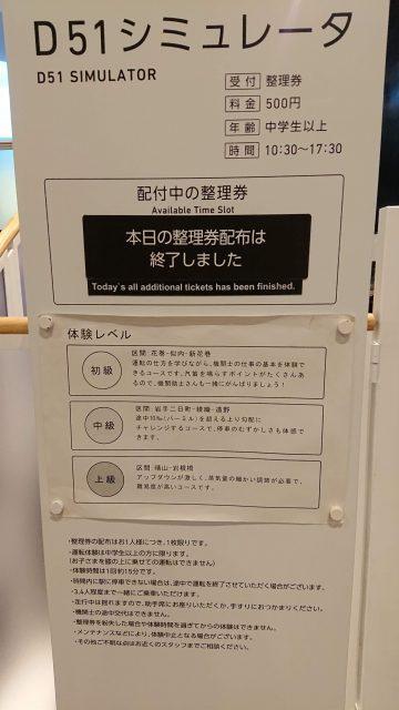 鉄道博物館のD51シミュレータ情報